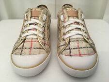 "COACH Women's ""Barrett""  Signature Gold & Multi-Colored Canvas Sneakers, Sz 8.5B"