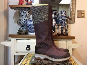 MERRELL 200 Gram Insulation Zipper Front Maroon Winter Boots Women's Sz 8.5 euc