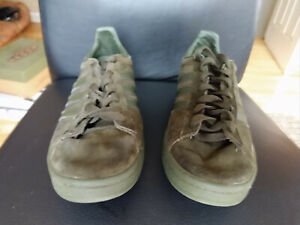 fAdidas Originals Campus Night Cargo Olive Dark Green Suede BZ0078 Men 9.5 Shoes