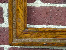 Antique Art Crafts Mission Faux Bois Oak Pattern Picture Frame 19 1/2 x 23 1/2