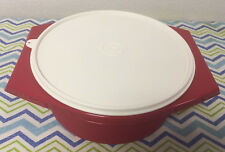 Tupperware Tortilla Keeper 12 Cup / 2.8 L Red w/ Ivory Seal New