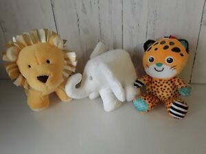 Baby Soft Toy Rattle Jellycat Mothercare  White Company Animal Jungle Bundle