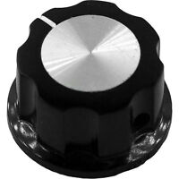 Pack of 10 KNOB FLUTED W//SKIRT 0.250 PLAST