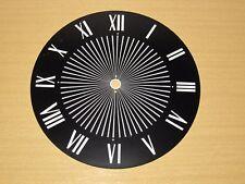 Vtg Standard Black White Roman Numeral Metal Clock Face Industrial Steampunk Art