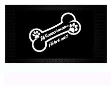 Hundeaufkleber Hund Aufkleber Sticker Wunschname Auto Autosticker Hundename
