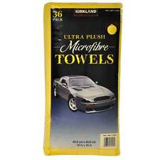 36 Kirkland Signature Ultra Soft Plush Microfibre Car Towels Cloths 40cm X 40cm