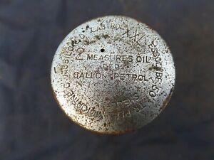 BSA BANTAM D1 D3 PETROL CAP OIL MEASURE ORIGINAL PART WITH CORRECT OIL GRADES