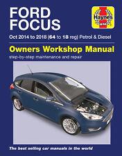 Haynes Manual de reparación de servicio 6417 Ford Focus 2014 al 2018 (64-18) Gasolina Diesel