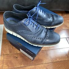 Mens Cole Haan Zero Grand Shoes Navy Blue Size 13