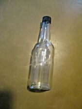 Clear Glass Beverage/Sauce Bottles 10 Oz - Half Case of 6 Hot Sauce Vinegar Cap