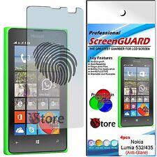 4 Pellicola Opaca Per Nokia Lumia 532 - 435  Antiriflesso Antimpronta Proteggi