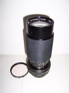 Vivitar MC 70-210mm f 4.5 Macro Focusing Zoom Lens Olympus OM Mount + Filter