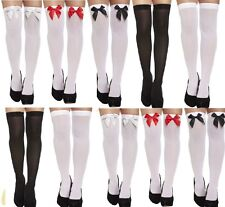 LADIES HOLD UP STOCKINGS AND STOCKINGS WITH BOW OPAQUE OVER THE KNEE THICK SOCKS