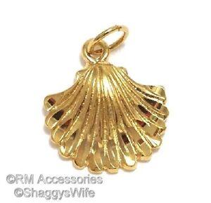 Seashell Charm Clam Shell Sea Pendant EP Gold Plated Lifetime Guarantee!