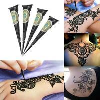 Black Ink Color Henna Tattoo Paste Indian Waterproof Tattoo Mehndi DIY Drawing