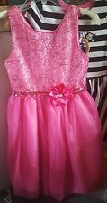 Girls Party dress 14 Pink sequins Emily West