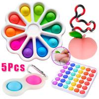 5X Fidget Toy Sensory Simple Dimple Stress Relief Kids Adults Autism SENS Bubble