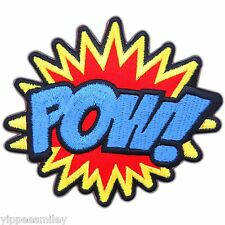 POW Super Hero Cartoon Sound Action Attack Superman Spider man Iron-On Patch 008