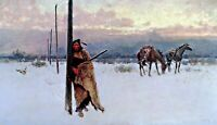 The Song of the Talking Wire by Henry Farny. Indians Repro on Canvas or Paper