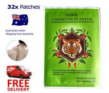 Tiger Capsicum Ache Relieving Heat Balm Patch - 32 Pcs - - 7x10cm