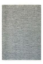 Tapis gris pour la maison en 100% laine, 160 cm x 230 cm