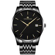 Fashion Men's Watches Stainless Steel Sport Quartz Analog Date Hours Wrist Watch