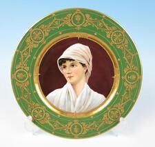 Antique WAGNER Royal Vienna Style Gold Encrusted Portrait Plate Porcelain German