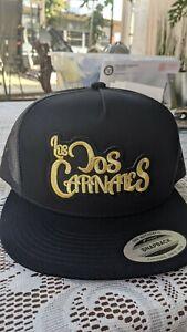 Los dos carnales 2 logos snackback adjustable mesh black color new style hat