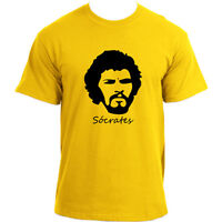 Socrates Brazilian Midfielder Football Legend 70's Brazil Soccer Retro T-Shirt