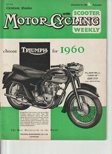Xmas Issue,Honda CB92 Advert,La Voiture a Vapeur de Cugnot,MotorCycling,1959