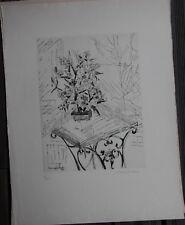 Suzanne DUCHAMP VILLON Gravure eau-forte etching signée numérotée arbre de jade