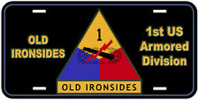 1st US Armored Division Novelty Car License Plate