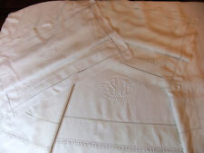 Parure de lit en Fil de Lin à superbes jours - Drap 2m25 X 2m90 + 2 Taies