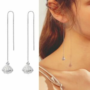 Crystal Drop Tassel Ear Line Hummingbird Earrings Stud Threader Dangle Women Hot