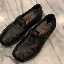 SAS Tripad Comfort Roamer Black Leather Cut Out shoes Size 6