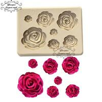Rose Flower Silicone Mold Fondant Mold Cake Decorating Tools
