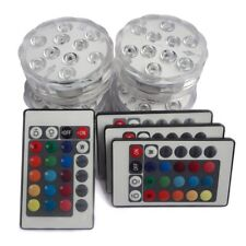 Submersible LED Lights with Remote Battery Powered,TRIPOP RGB Multi Color 4 PK