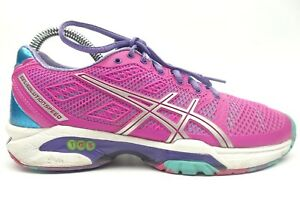 Asics E450J Gel-Solution Speed Flexion Fit Pink Green Purple Running Shoes US 6