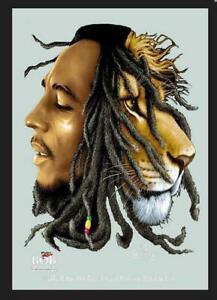 Bob Marley Lion Mirror Wall Mirror BAR Party Basement BAR 11 13/16in