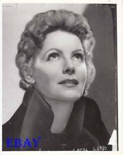 Greta Garbo glances upward   RARE Photo
