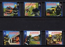 Gb Alderney, Scott # 239-244, Set Of 6 Stamps Fire Services, Fire Fighters,Truck