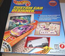 HOT WHEELS  VW  DRAG  BUS  MATTEL  CUSTOM  CAR  DESIGNER  CD-ROM   yr1997