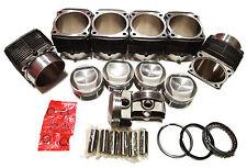 QSC Porsche 911 100mm Aluminum Nikasil Coated Cylinders & Pistons Set