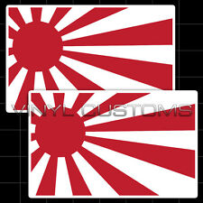 "5"" Rising Sun Flag Japanese Japan Flag Vinyl Decal Stickers JDM"