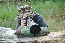 Medium Birdwatching Scope Photography Camera lens beanbag with strap camo bean