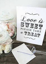Shabby Chic/Vintage Candy Buffet Sign/Candy Bar/Sweets/Table Sign/Wedding/ 10005