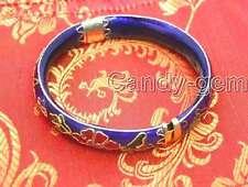 70mm Blue Cloisonne Enamel Bangle cuff Handwork Bracelet for Women Jewelry b122