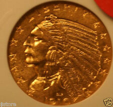1910  NGC MS62 $5 Gold Indian HEAD