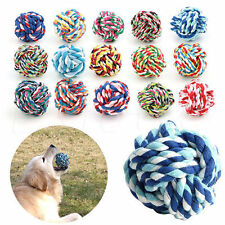 Pet Dog Puppy Braided Knot Rope Dogs Cottons Chews Toy Cat Play Ball Random