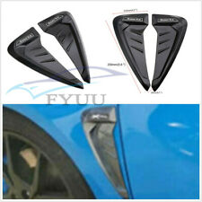 1 Pair Left+Right 3D Black Wing Air Flow Fender Grille Intake Vent Trim Stickers